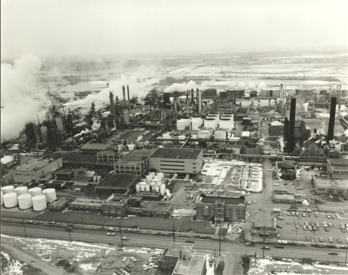 Sinclair refinery circa 1950's historical photo.